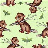 Cute Baby Beaver Pattern