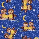 Cute Baby Owls Starry Night Pattern
