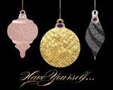 Park Avenue Luxe Ornaments semi-flat