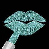 Aqua Glitter Lipstick