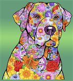 Flowers Yellow Lab