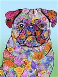 Flowers Pug