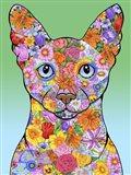 Flowers Siamese Cat