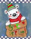 Santa Stop Here Bear