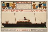 Rotterdam London Travel Poster
