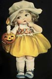 Joyful Halloween Yellow Dress