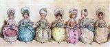 Little Girls At Tea Time