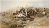 Charles Marion Russell - Custer Fight