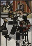 Un Homme Au Cafe Juan Gris