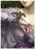 Edward John Poynter, Lesbia and her sparrow Detail 1907