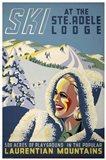Ski at the Ste. Adele Lodge