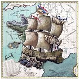 Map Of France As A Ship -1796