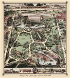 Map Of New York City's Central Park 1860