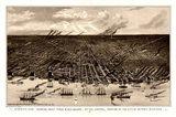 Birds Eye View Of Detroit Michigan 1889