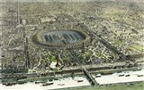 Birds Eye View Of The Universal Exposition In Paris 1867