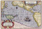 Italian Map Of The Pacific Ocean1589