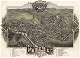 Map Of Montpelier Vt With Reference Table 1884