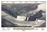 Map Of Niagara Falls With Legend 1882