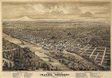 Salem Oregon 1876 Birds Eye View