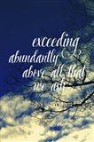 Exceeding Abundantly