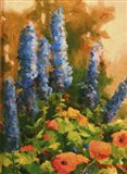 Delphiniums and Poppies
