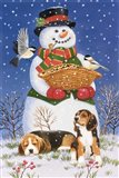 Snowman, Birds and Beagles