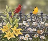 Iron Fence with Lilies