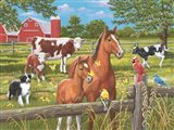 Spring Summer Pasture Scene