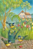 Birds by the Watering Can