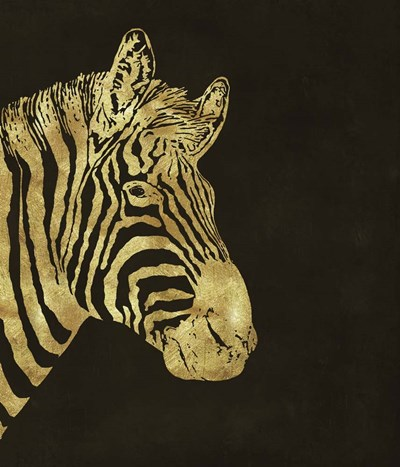 Golden Zebra Poster by Tina Lavoie for $37.50 CAD