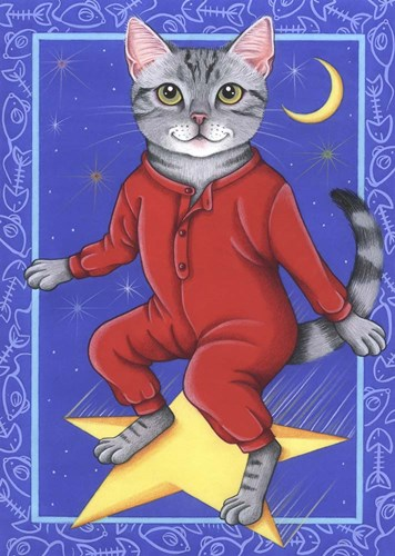 Star Cat Poster by Tomoyo Pitcher for $42.50 CAD