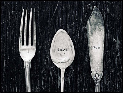Antique Knife Fork and Spoon Poster by Tom Quartermaine for $41.25 CAD