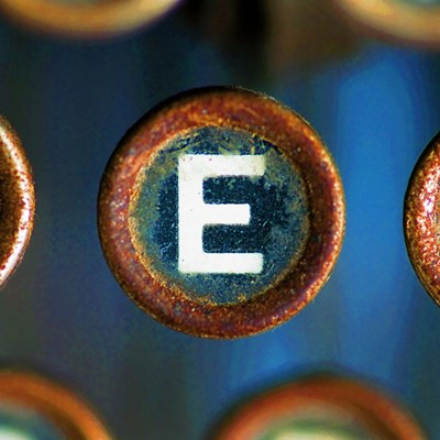 Letter E of Typewriter 'LOVE' Poster by Tom Quartermaine for $48.75 CAD