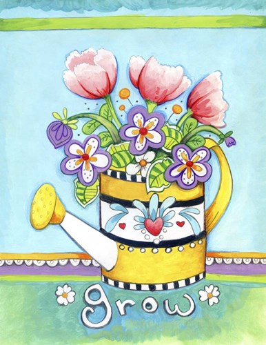 Watering Can Poster by Valarie Wade for $40.00 CAD