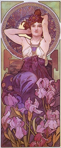 Amethyst Poster by Alphonse Mucha for $100.00 CAD