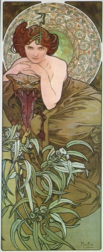 Emeraude Poster by Alphonse Mucha for $83.75 CAD