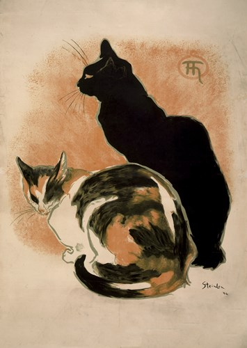 Two Cats Poster by Theophile-Alexandre Steinlen for $98.75 CAD
