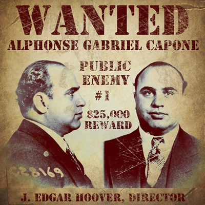 Al Capone Wanted Poster Poster by Vintage Apple Collection for $130.00 CAD