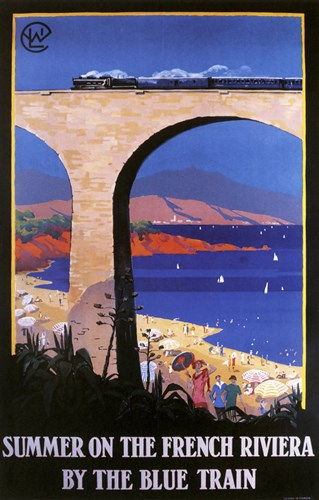 French Riviera Poster by Vintage Apple Collection for $105.00 CAD