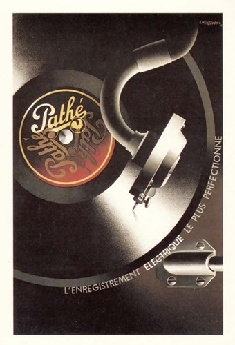 Pathe Record Poster by Vintage Apple Collection for $43.75 CAD
