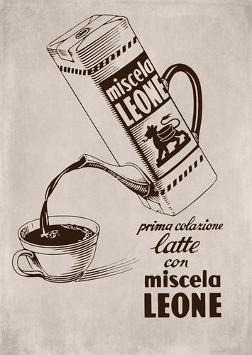 Cafe Leone Poster by Vintage Apple Collection for $42.50 CAD