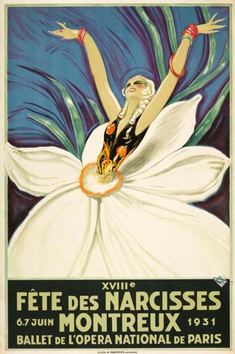 Paris Ballet Poster by Vintage Apple Collection for $43.75 CAD