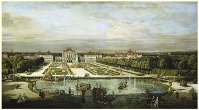 Baroque Nymphenburg Palace By Bernardo Bellotto 1760 Poster by Vintage Lavoie for $40.00 CAD