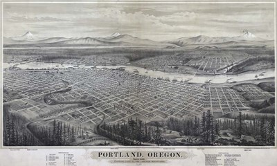 Map Of Portland Oregon 1879 Poster by Vintage Lavoie for $47.50 CAD