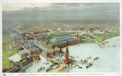 Official Birdseye View World's Columbian Exposition, Chicago 1893 Poster by Vintage Lavoie for $42.50 CAD