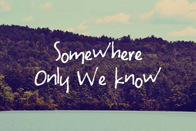 Somewhere Only We Know I Poster by Vintage Skies for $43.75 CAD