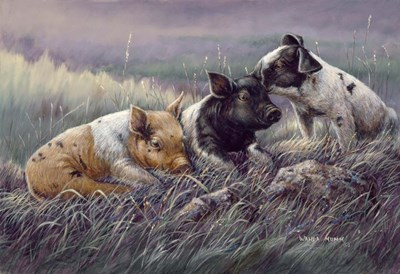Three Little Pigs Poster by Wanda Mumm for $38.75 CAD