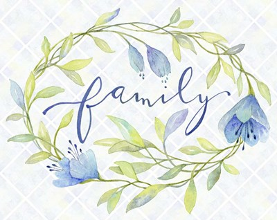 Family Wreath Poster by Yachal Design for $42.50 CAD