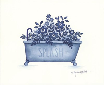 Splash Tub Poster by Annie Lapoint for $40.00 CAD