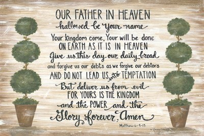 Our Father in Heaven Poster by Annie Lapoint for $43.75 CAD